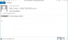Email spam chứa ransomware của Avaddon
